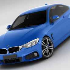 BMW 4 F32 Coupe M package 3D Model