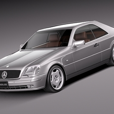 Mercedes-Benz CL500 C140 1993-1998 3D Model