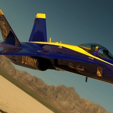 F-18C Blue Angels #5 3D Model