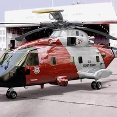 HC3 Merlin USCG 3D Model