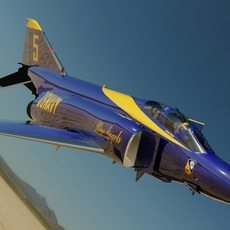 F-4J Phantom II Blue Angels #5 3D Model