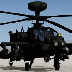 AH-64D Longbow Apache 3D Model