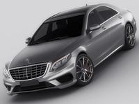 Mercedes S63 AMG MY2014 3D Model