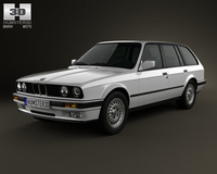 BMW 3 Series touring (E30) 1990 3D Model