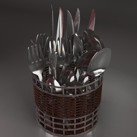Cutlery box 3D Model