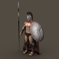 Ancient Warrior Roman or Greek 3D Model