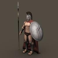 Ancient Warrior Roman or Greek 3D Model