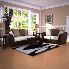 Ashley Logan - Stone Sofa & Loveseat Set 3D Model