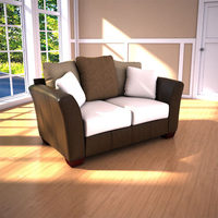 Ashley Logan Stone Loveseat 3D Model