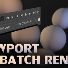 Render Window / viewport Batch Render Script 1.0.0 for Maya (maya script)