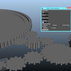 Gear Model and Animation Script for Maya 1.0.0 (maya script)
