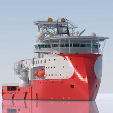 Construction & Well Intervention Vessel Skandi Constructor 3D Model