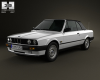 BMW 3 Series convertible (E30) 1990 3D Model
