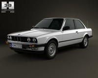 BMW 3 Series coupe (E30) 1990 3D Model