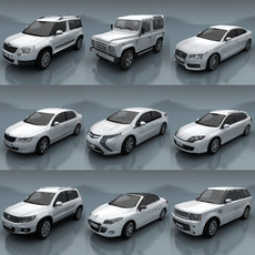 10 City cars models E 3D Model
