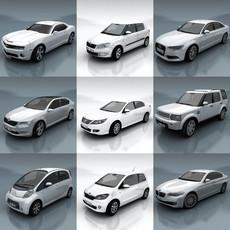 10 City cars models F 3D Model