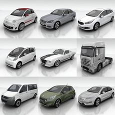10 City cars models G 3D Model