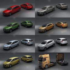 15 City cars models 3D Model