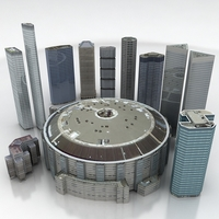 10 City Buildings Pack 3D Model