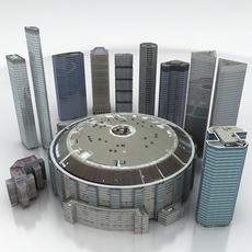 10 City Buildings Pack 3D Model