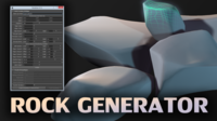 1 Click Procedural Rock Generator (Now with retopology!) for Maya 1.2.0 (maya script)