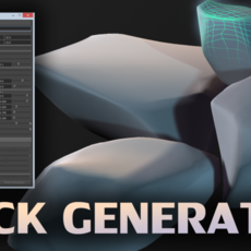 1 Click Procedural Rock Generator (Now with retopology!) 1.2.0 for Maya (maya script)