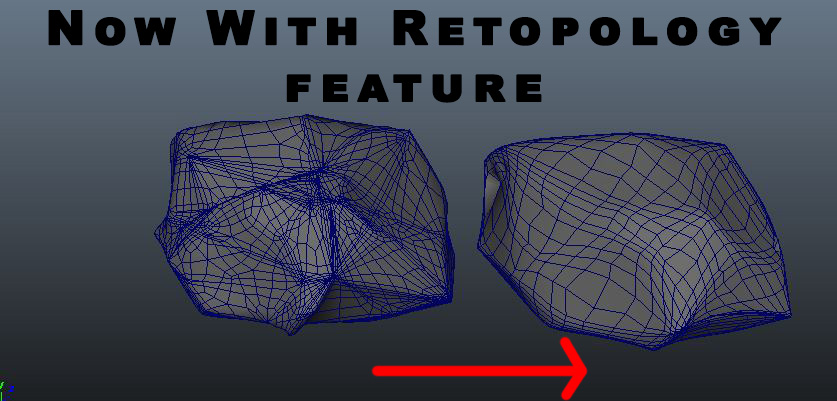 1 Click Procedural Rock Generator (Now with retopology!) for Maya