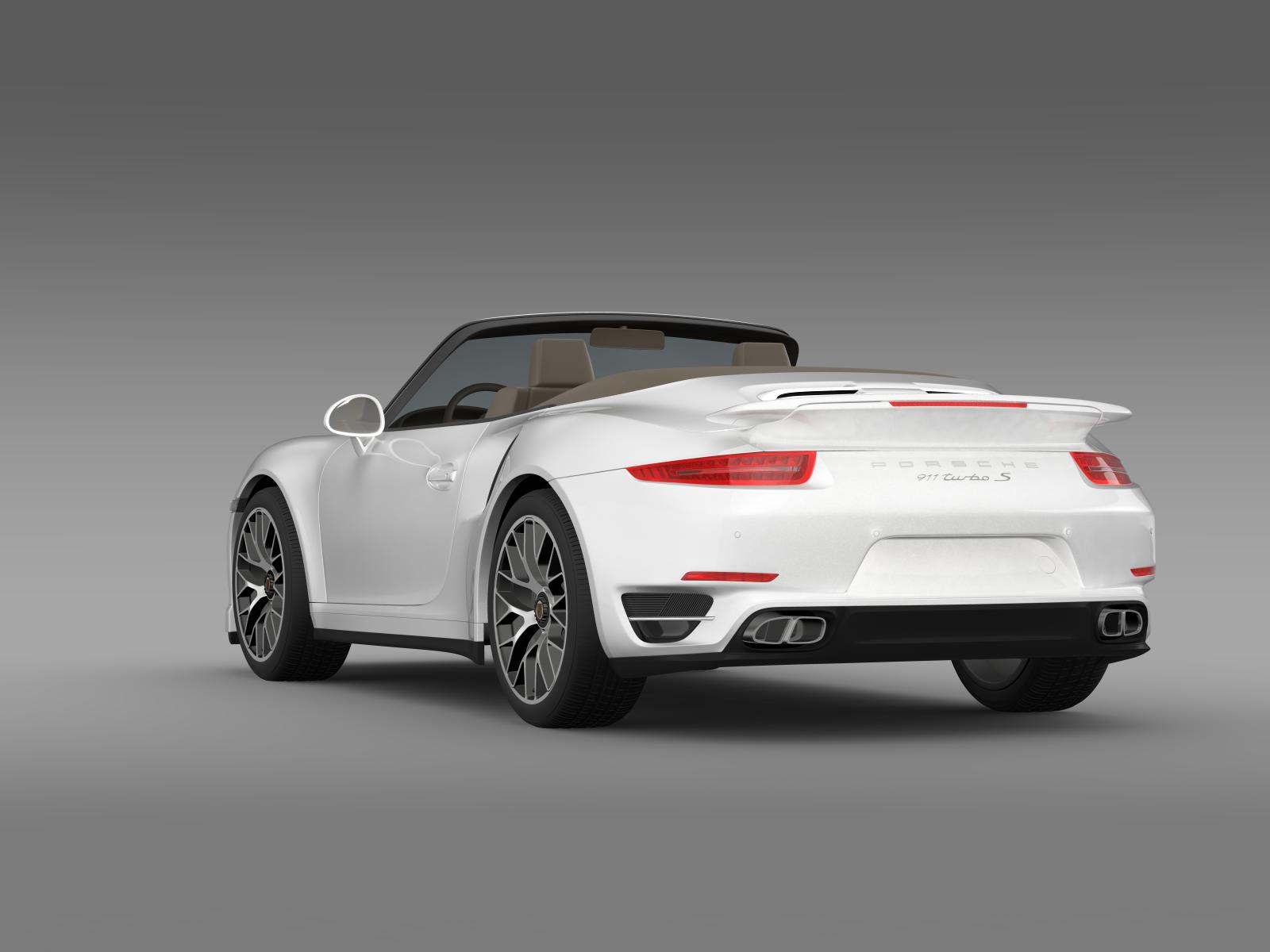 porsche 911 turbo s cabrio 2014 3d model. Black Bedroom Furniture Sets. Home Design Ideas