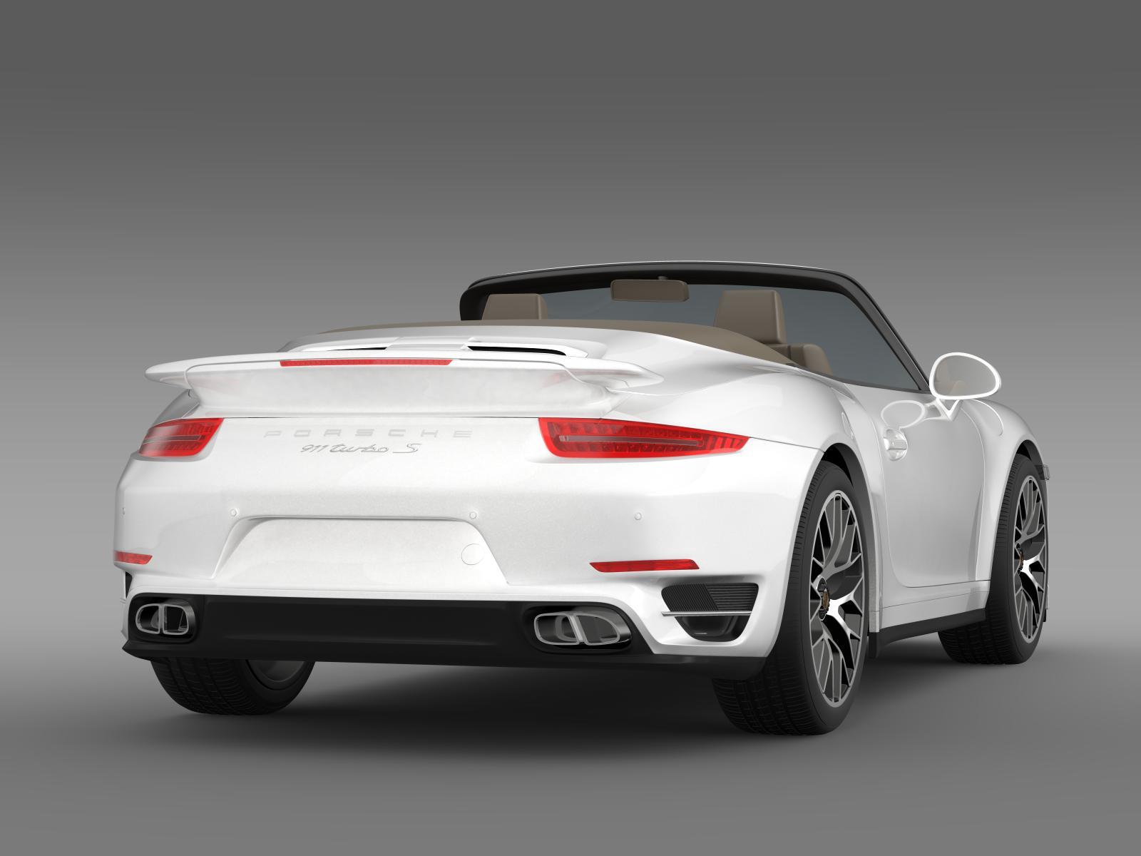 porsche 911 turbo s cabrio 2014 3d model. Black Bedroom Furniture Sets. Home Design Ideas
