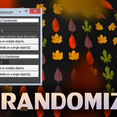 Universal UV Randomization script 1.1.0 for Maya (maya script)
