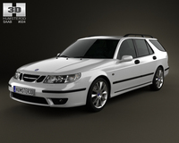 Saab 9-5 Aero wagon 2005 3D Model