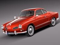 Volkswagen Karmann Ghia Coupe 1955-1974 3D Model