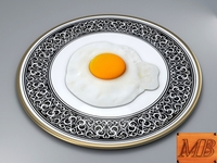 FRIED EGG DISH 3D Model