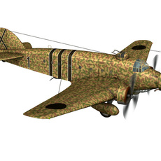 Savoia-Marchetti SM.81 - Spanish Civil War 3D Model