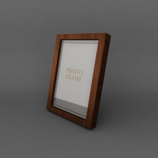High Quality Low Poly Simple Photo Frame 3D Model