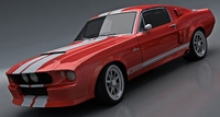 Shelby GT500 Classic recreations 3D Model