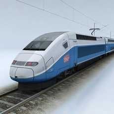 TGV Duplex Train 3D Model