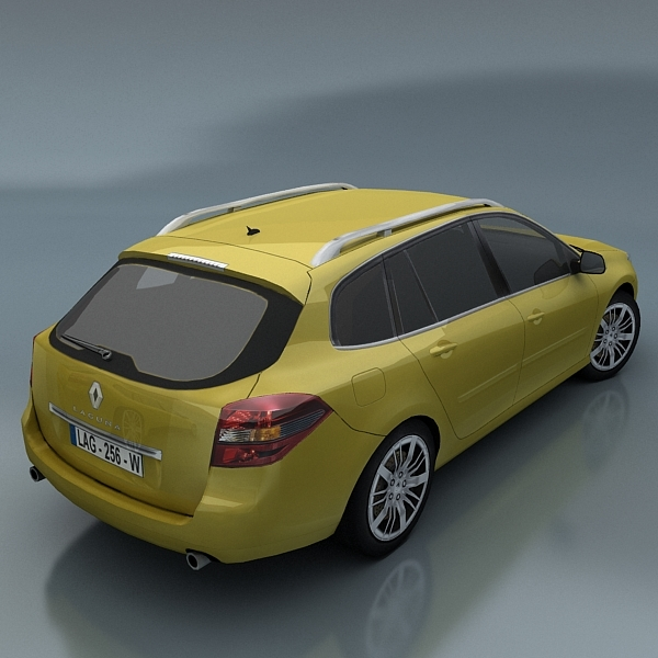 renault laguna kombi 3d model. Black Bedroom Furniture Sets. Home Design Ideas