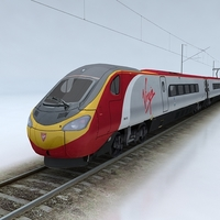 British Rail Class 390 Pendolino 3D Model