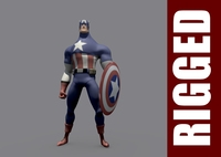 Captain America (Rig) for Maya 1.0.0