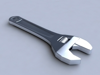 Adjustable wrench 3D Model