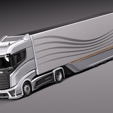 Scania R1000 2014 AeroTrailer 3D Model