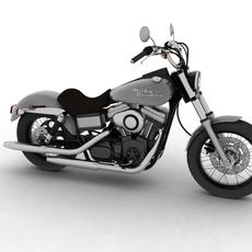 Harley Davidson FXDB Street Bob 2011 3D Model