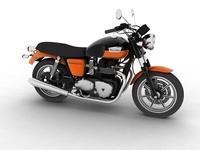 Triumph Bonneville SE 2012 3D Model
