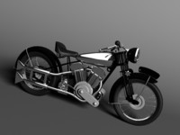 Brough Superior SS100 1938 3D Model