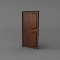 Simple Classic Door 3D Model