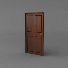 Simple Classic Door 3D Model