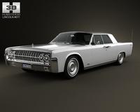 Lincoln Continental sedan 1962 3D Model
