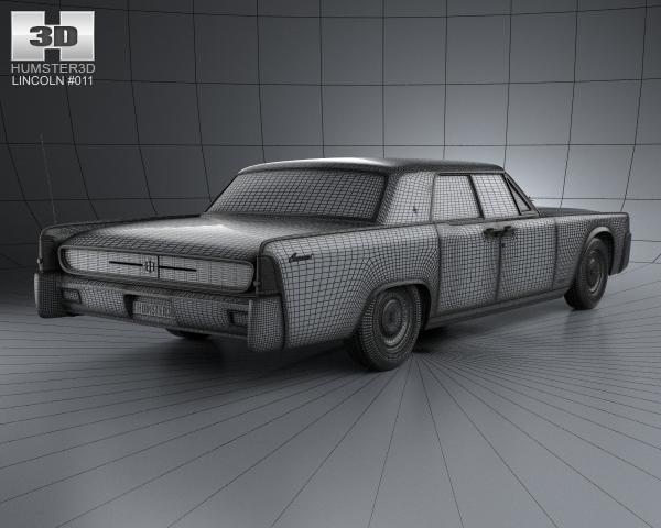 lincoln continental sedan 1962 3d model. Black Bedroom Furniture Sets. Home Design Ideas