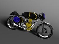 AJS 7R Café Racer 1954 3D Model